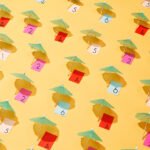 Umbrella beach place cards
