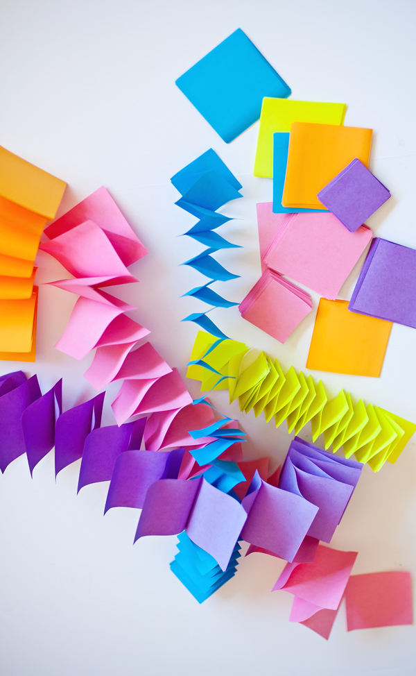 Post-it Note Party Garland