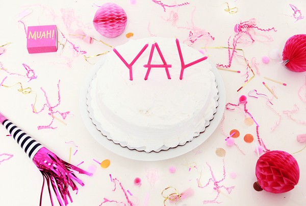 YAY candle cake topper