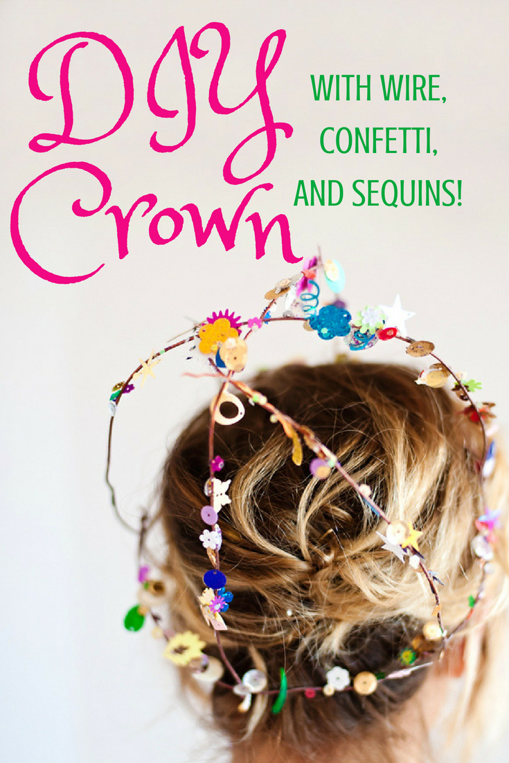 How to make a diy crown with wire and sequins