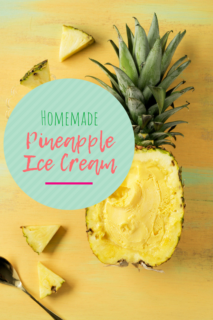 How to make homemade pineapple ice cream