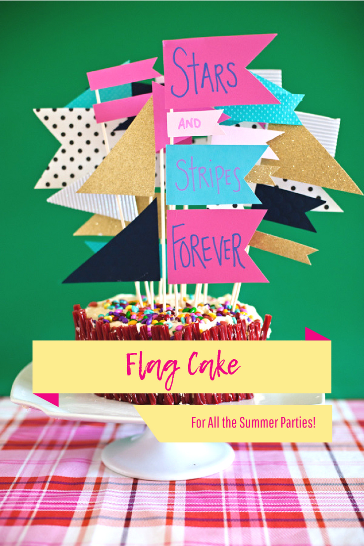 Flag cake for all the 4th of July parties