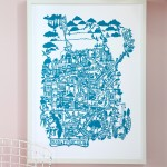 Hand cut prints from Famille Summerbelle