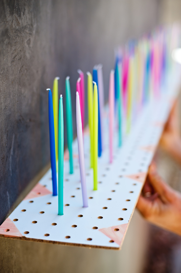 Pegboard Birthday Candle Holder