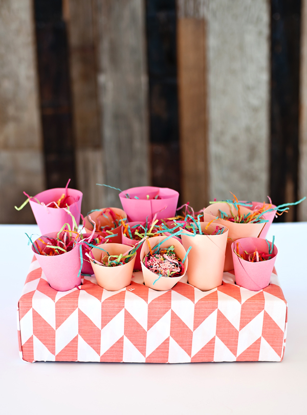 Making your own confetti cones