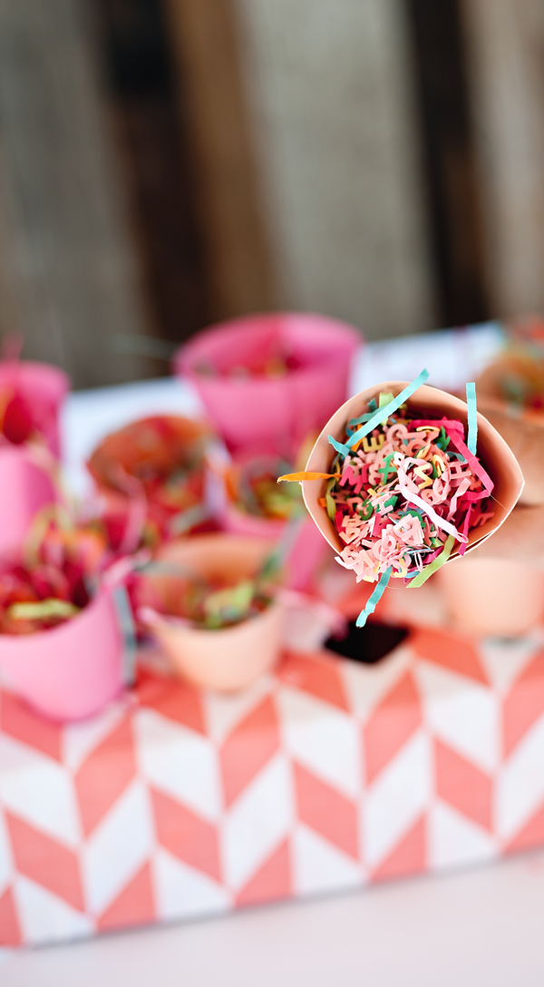 Make your own DIY confetti to put in the confetti cones