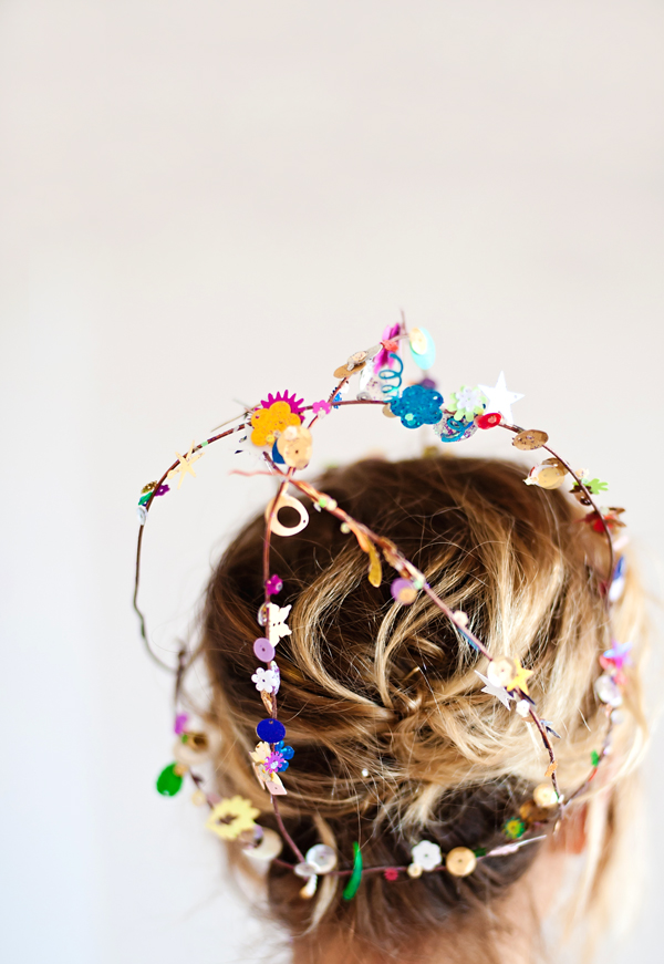 Sequin birthday crowns