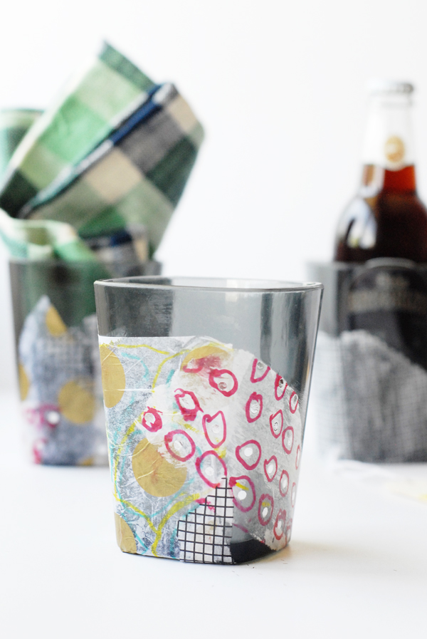 Kid's artwork on cups for Father's Day (pair with his favorite drink!).