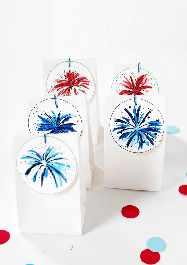 Printable 4th of July party favors
