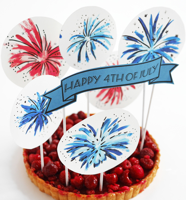 4th of July cake topper