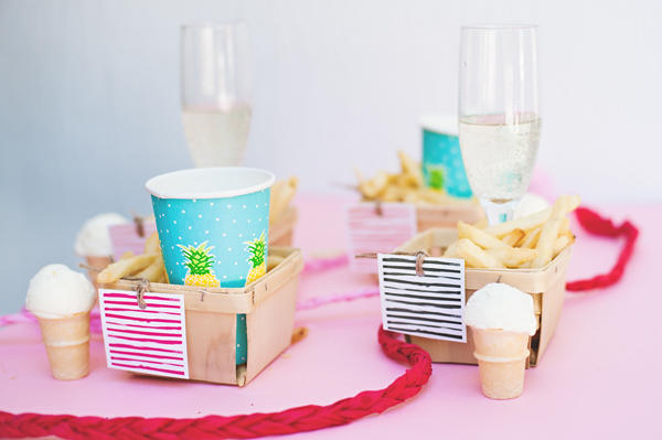 French fry, custard + champagne party