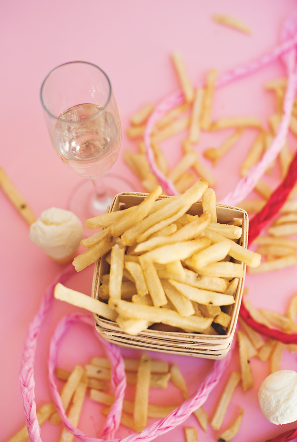 French fry + champagne party