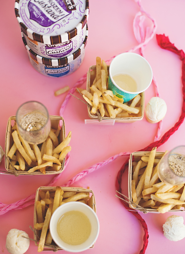 French fry party for girls night. YES!