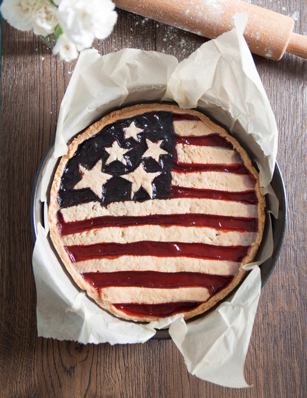 Love this American flag pie for the fourth of July.