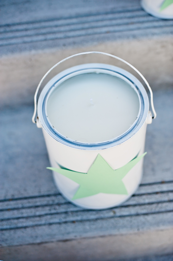 Paint can deck candles