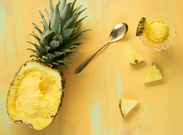 How to make pineapple ice cream