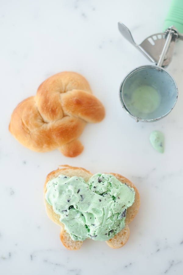 Soft pretzel ice cream sandwiches