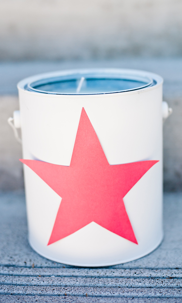 Paint can outdoor party candles