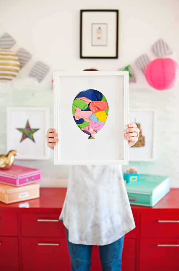 Balloon shadow box art