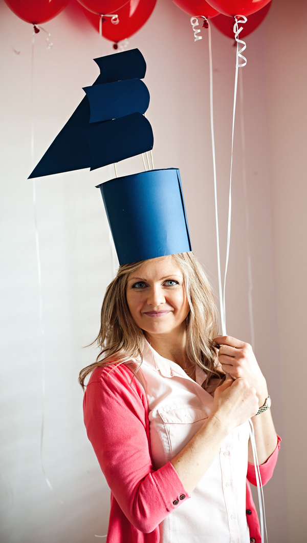Sail boat party hat