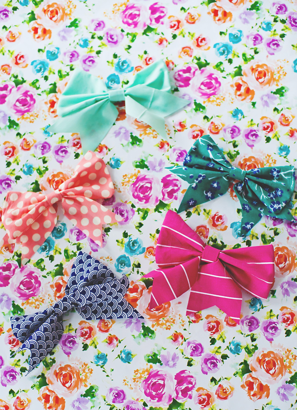 Homemade cake bows