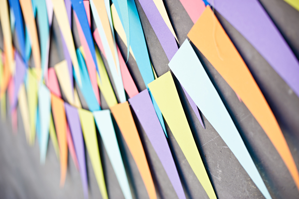Gigantic triangle party garland