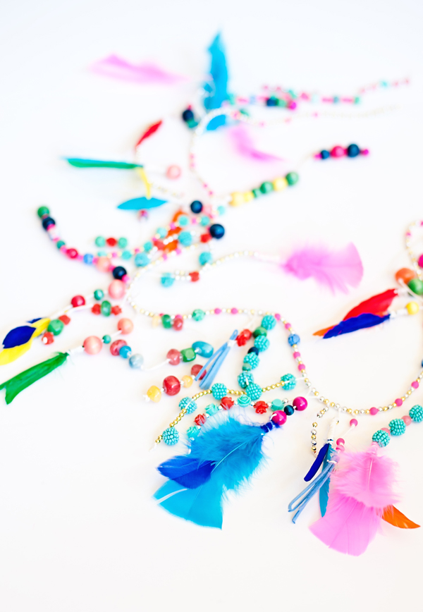 beaded party garland
