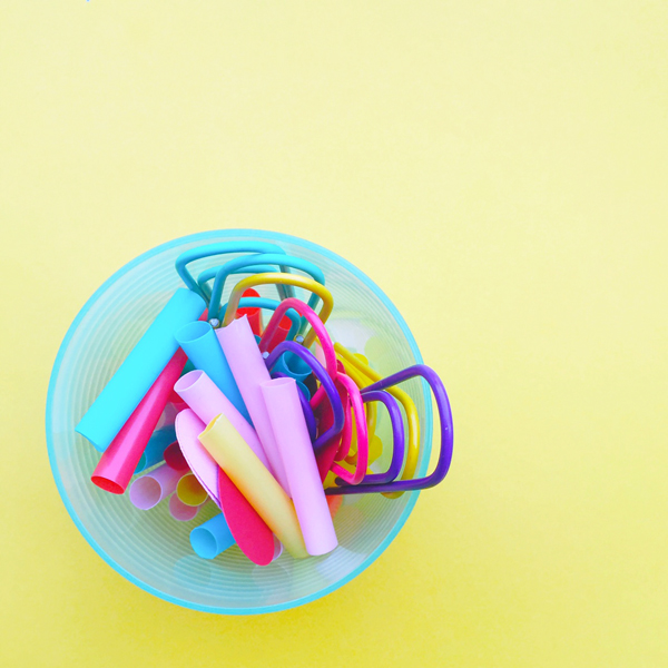 Organize your desk with cups.