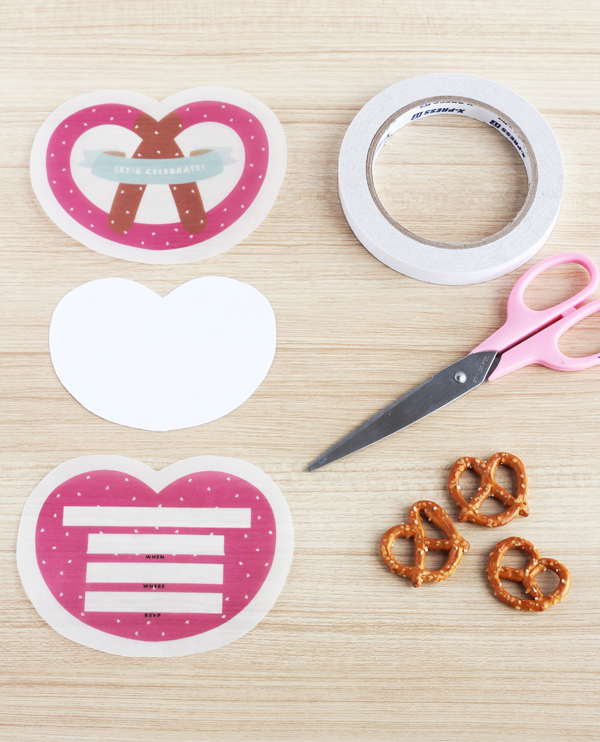 Soft pretzel invites