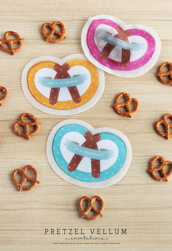 Soft pretzel party invites