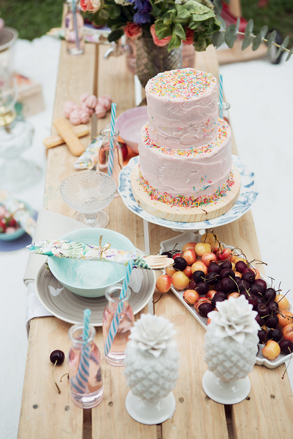 Sprinkle party cake