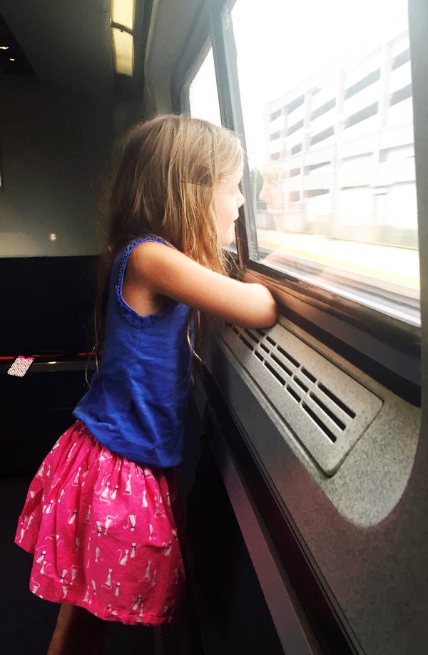 Traveling via trains with kids is waaaay easier than airplanes!