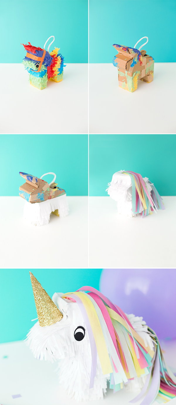 Steps to create a DIY unicorn pinatas