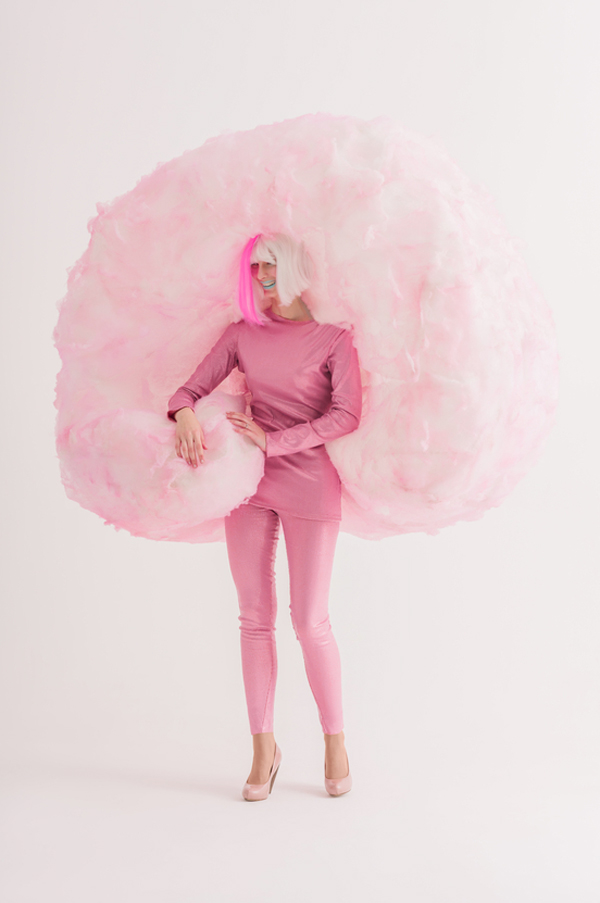 Cotton Candy Halloween Costume (Click for the DIY)