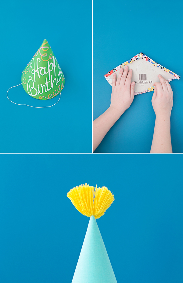How to trim a party hat