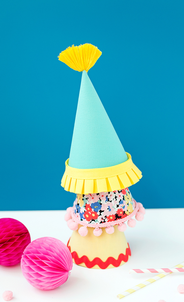 Trimmed party hats