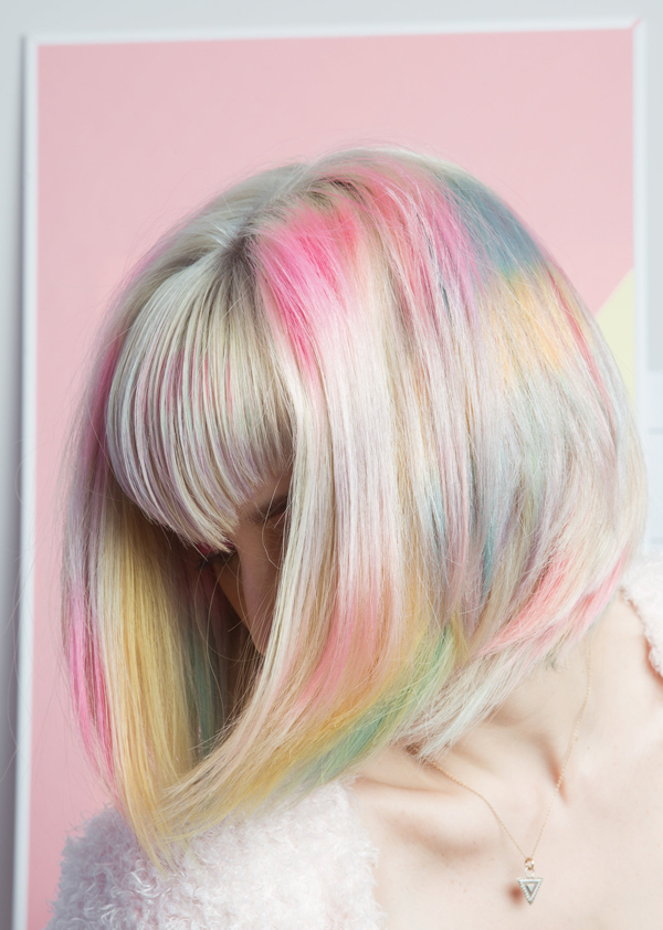 diy rainbow hair