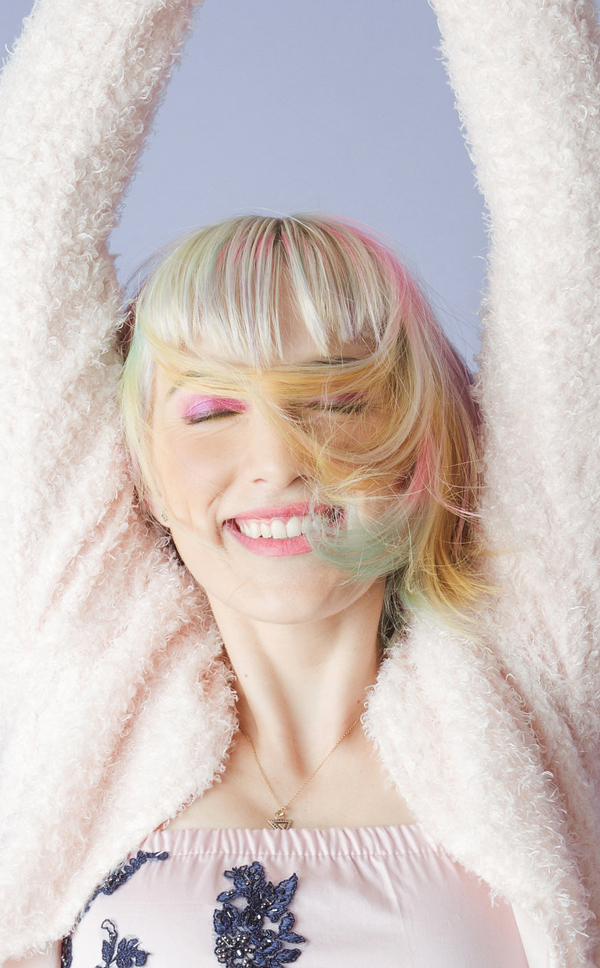 Pastel Rainbow Sand Art Hair - Be A Unicorn! >>> Temp DIY