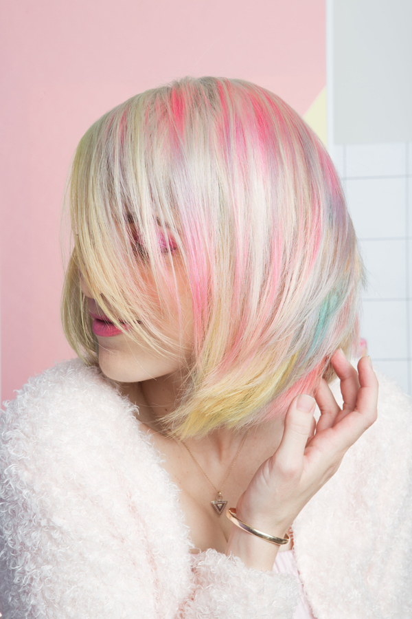 Pastel Rainbow Sand Art Hair
