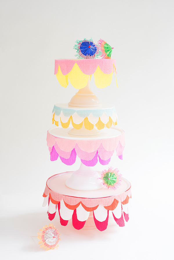 Crepe paper party supplies