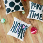 Painted party pillows