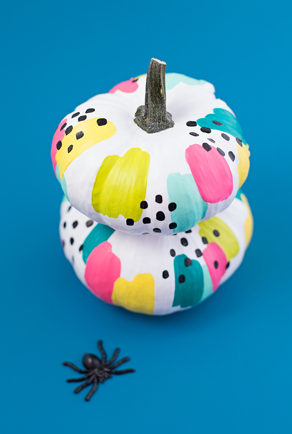 Abstract painted pumpkins