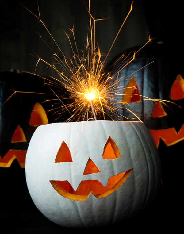 Fun pumpkin carving ideas - Sparkler Pumpkin
