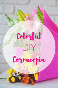Colorful DIY Cornucopia