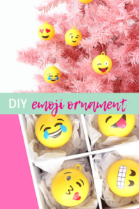 DIY Emoji Ornament