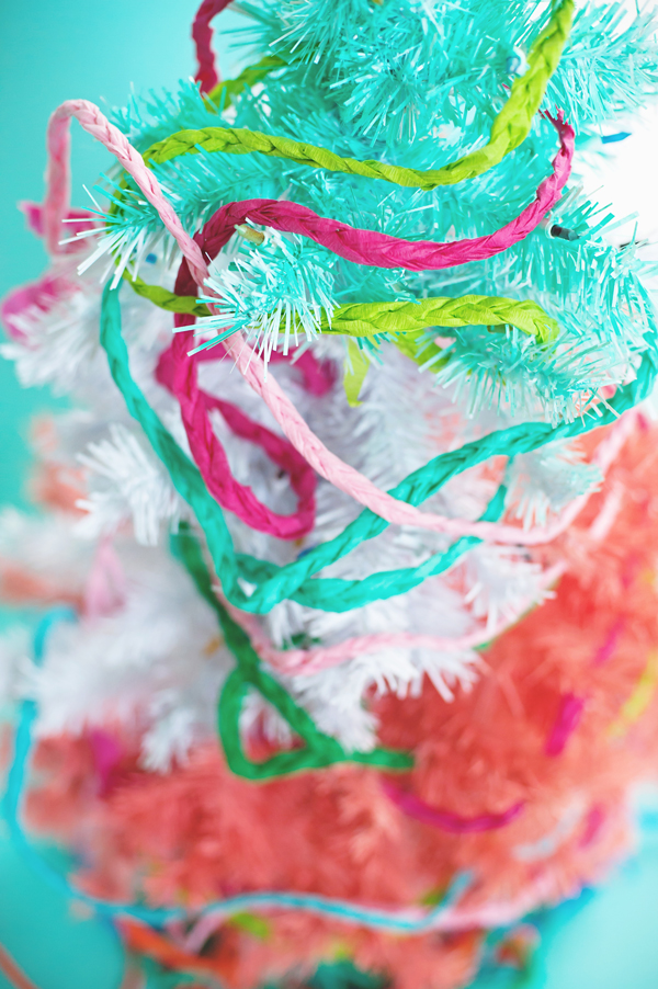 braided streamer Christmas garland