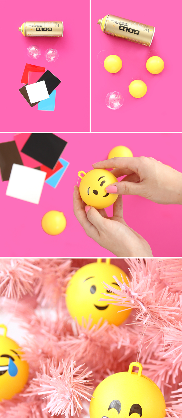 How to make DIY Emoji Ornmanets