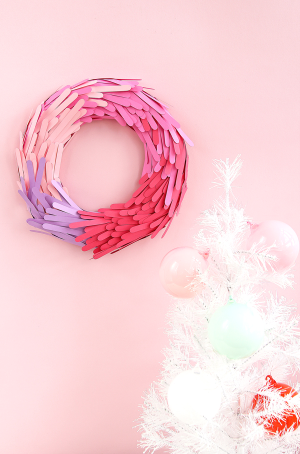 Color block paper wreath