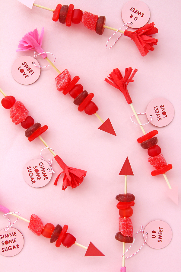 Candy arrows a subtle revelry for Crafts for valentines day ideas