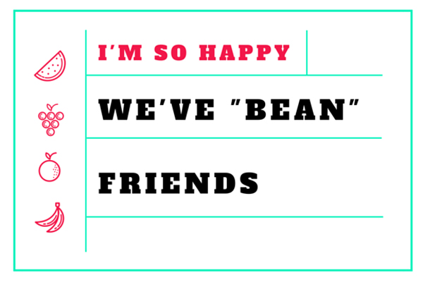 Jelly Bean Valentine Template